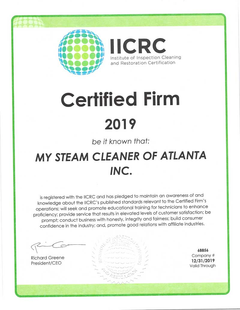 2019 IICRC Certification