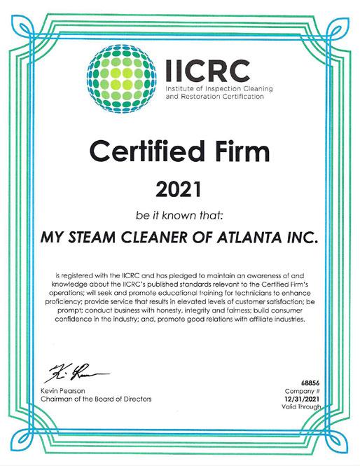 IICRC Certification 2021
